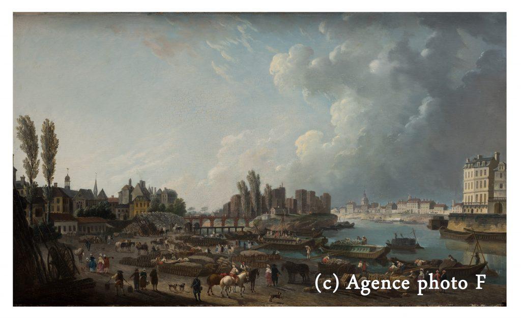 Le port Saint-Paul et l'île Louviers au milieu du XVIIIe siècle