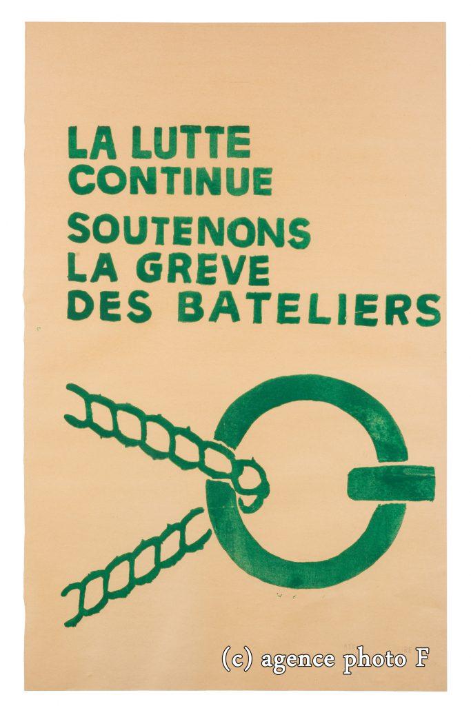 Affiche grèves des mariniers