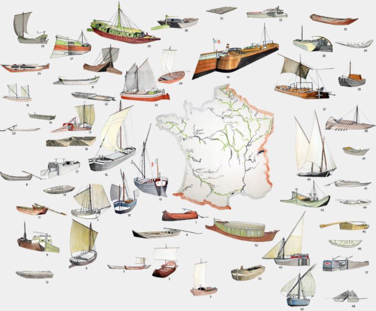 Carte interactive des bateaux des fleuves de France