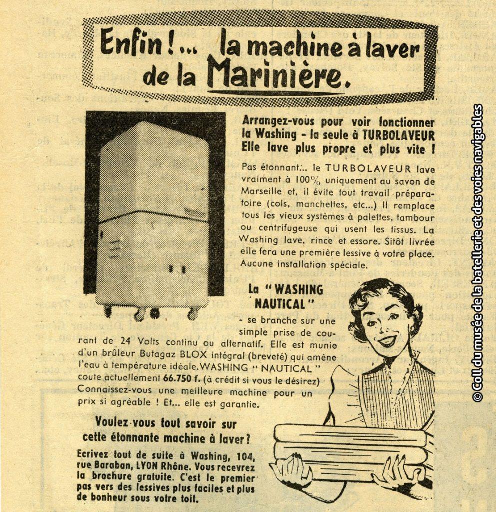 Température Machine À Laver journal de la navigation 1956 enfin la machine à laver de la
