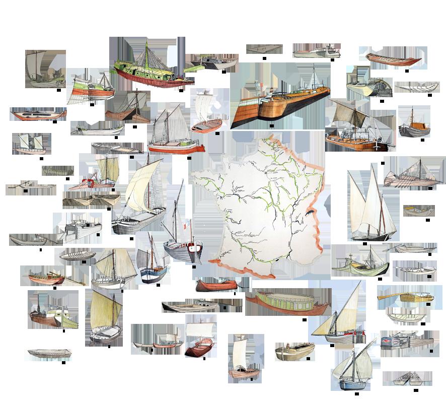 Les bateaux des fleuves de France